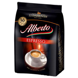 Alberto Espresso kaffepads 36st