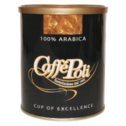 Caffè Poli 100% Arabica plåtburk malet kaffe 250g