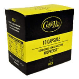 Caffè Poli Gold kaffekapslar till Nespresso 10st