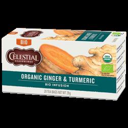 Celestial tea Organic Ginger & Turmeric tepåsar 20st