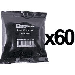 Coffeeplease mörkrostat bryggkaffe 100g x60