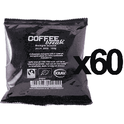 Coffeeplease ekologiskt mörkrostat bryggkaffe 100g x60