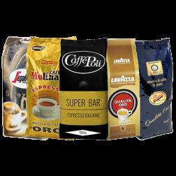 Oro (guld) kaffebönor prova på paket