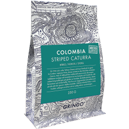 Gringo Colombia Striped Caturra kaffebönor 250g