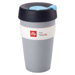 illy live happilly KeepCup kaffekopp grå 454ml