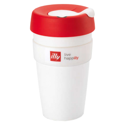 illy live happilly KeepCup kaffekopp vit 454ml