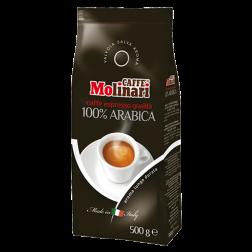 Molinari 100% Arabica kaffebönor 500g utgånget datum