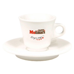 Molinari espressokoppar (med fat) 6st