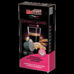Molinari Zenzero Cannella kaffekapslar till Nespresso 10st
