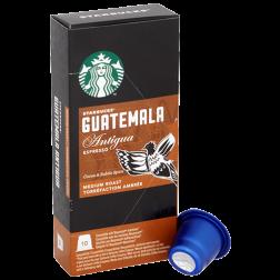 Starbucks Guatemala Antigua Espresso kaffekapslar till Nespresso 10st