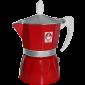Caffè Bonini Röd Mokabryggare 3 koppar