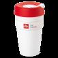 illy live happilly KeepCup kaffekopp vit 454ml